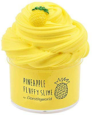 Amazon.com: Dorothyworld 2018 Newest Yellow Pineapple Butter Fluffy Slime,Super Soft and Non-Sticky((7oz 200ML)): Toys & Games