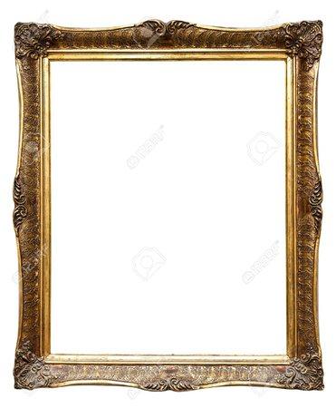 9980176-very-old-retro-golden-old-frame-isolated-on-white.jpg (1072×1300)