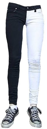 split leg jeans