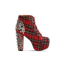 Jeffrey Campbell PLAIDSTUDDED LITA