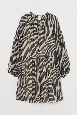 Chiffon Dress - Black