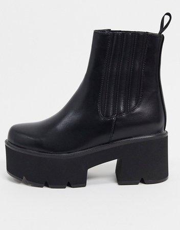 Lamoda chunky chelsea boots in black | ASOS