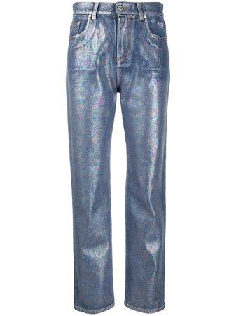 MSGM Metallic Straight Jeans - Farfetch
