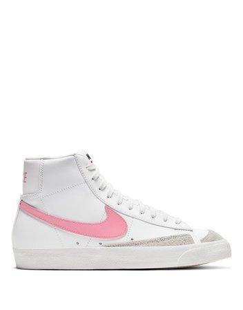 Nike Blazer Mid '77 VNTG sneakers in summit white/sunset pulse   ASOS