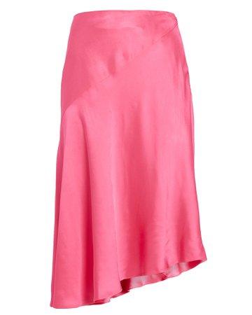 Helmut Lang Asymmetrical Satin Skirt | INTERMIX®