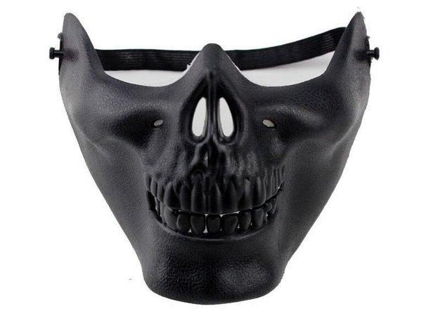 Half Face Skeleton Warriors Halloween Masks Protective Skull Mask Of Terror Halloween Masquerade CS Games Masks Black And White Masquerade Masks Black And White Masquerade Masks For Women From China_smoke, $2.36  DHgate.Com