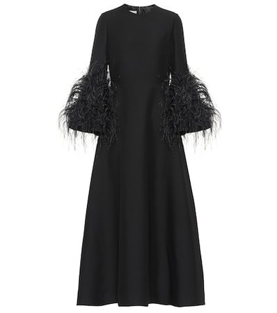 Wool and silk gown