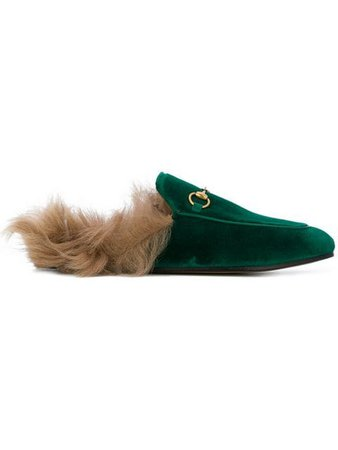 Gucci Emerald Princetown Velvet Fur Lined mules $890 - Buy Online SS19 - Quick Shipping, Price