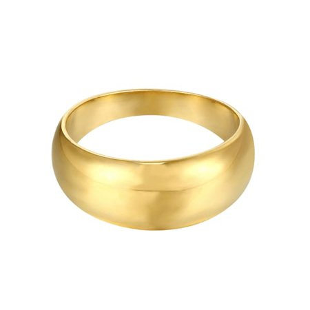 18Ct Gold Vermeil Chunky Domed Cigar Ring   SEOL + GOLD   Wolf & Badger