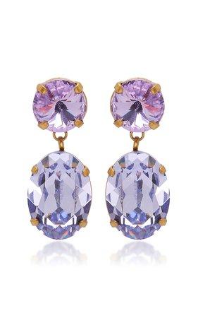 Hip Hop But Not Mini Crystal Drop Earrings by Roxanne Assoulin | Moda Operandi