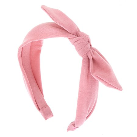 knitted pink headband-Claire's