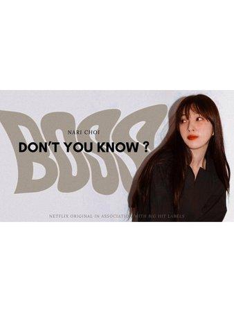 BITTER-SWEET BOSS: Don't You Know ? Logo (NARI)