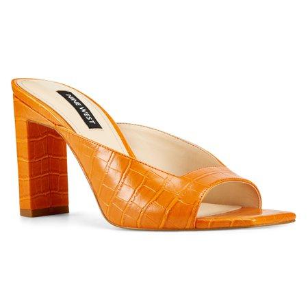 Pyper Heeled Slide Sandals - Nine West