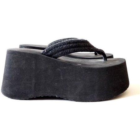 Hella 90s Foam Platform Flip Flops, 90s Summer Club Kid, Women's Size