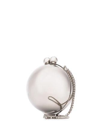 Marzook Orb silver-tone Clutch Bag - Farfetch