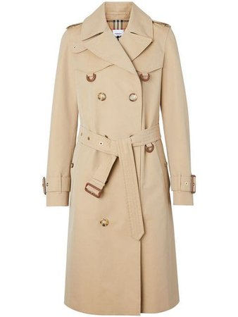 Burberry D-Ring Gabardine Trench Coat 8014155 Neutral | Farfetch
