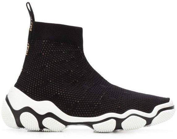 RED (V) slip-on sneakers