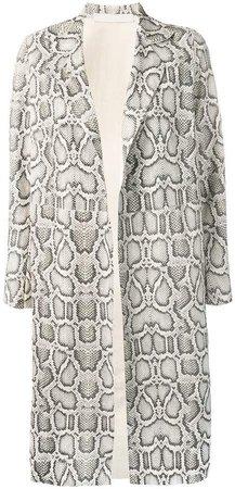 Salvatore Santoro snake-print coat