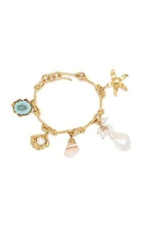 Brass-Plated Irvina Charm Bracelet By Ulla Johnson | Moda Operandi