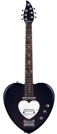 black daisy rock heart guitar