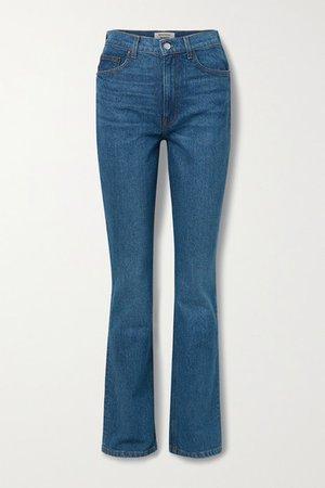 Net Sustain Peyton High-rise Bootcut Jeans - Mid denim