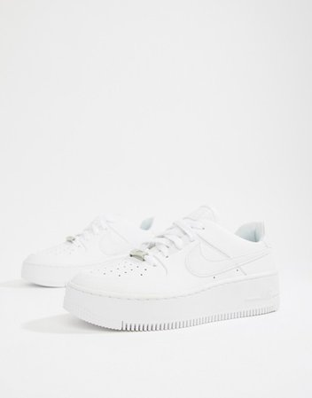 Nike white air force 1 sage low sneakers | ASOS