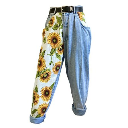 Sunflowers High Waist Jeans