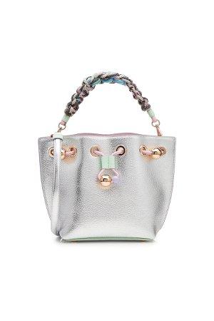 Romy Mini Flower Leather Bucket Bag Gr. One Size