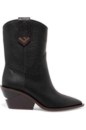 Fendi | Textured-leather boots | NET-A-PORTER.COM