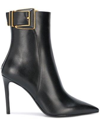 Balmain Buckle Detail Boots - Farfetch