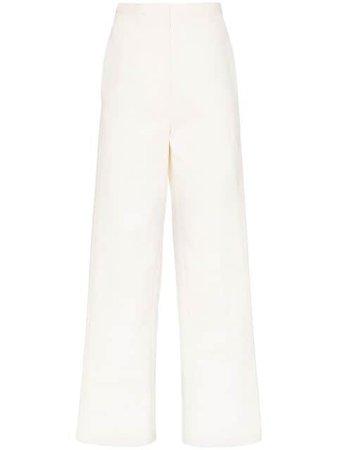 Lvir Stitches Straight-Leg Trousers LV20SPT07 White   Farfetch