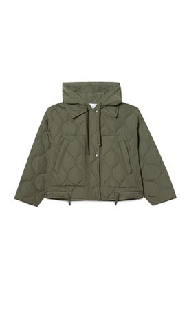 Hooded puffer jacket - Women's Just in   Stradivarius United States