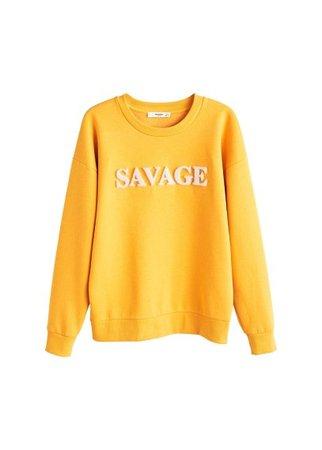 MANGO Furry message sweatshirt