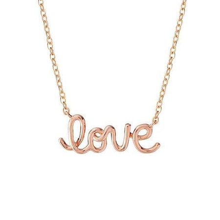 Rose Gold Love Necklace | Playful Jewelry, Teenager Gifts | UncommonGoods