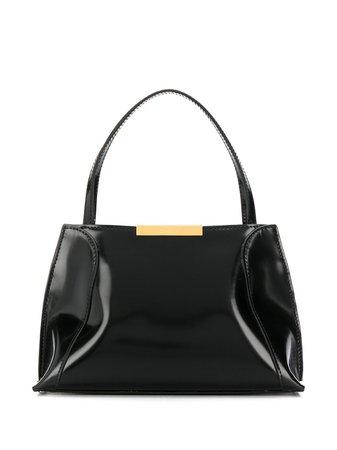 By Far Textured Logo Plaque Tote Bag Ss20 | Farfetch.com