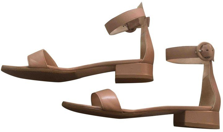 Portofino Pink Leather Sandals