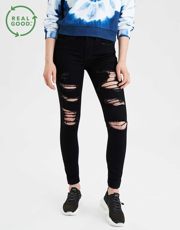 black ripped jeans 2