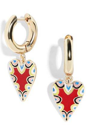 BaubleBar Vida Heart Huggie Earrings | Nordstrom