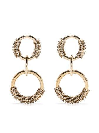 Rosantica Hoop Drop Earrings - Farfetch