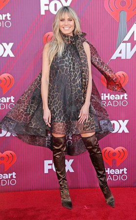 Heidi Klum from 2019 iHeartRadio Music Awards Red Carpet Fashion