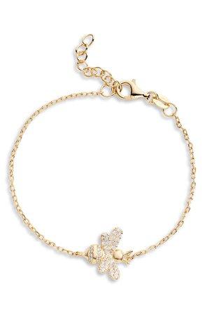 Adina's Jewels Pavé Bee Bracelet | Nordstrom