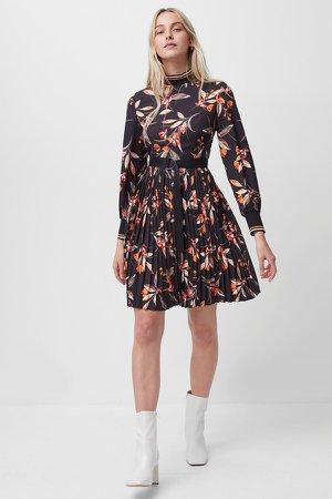 Eliva Drape Pleated Dress