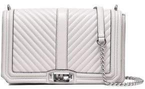 Quilted And Smooth-leather Shoulder Bag