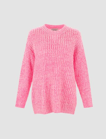Hot Pink Oversized Sweater | CIDER