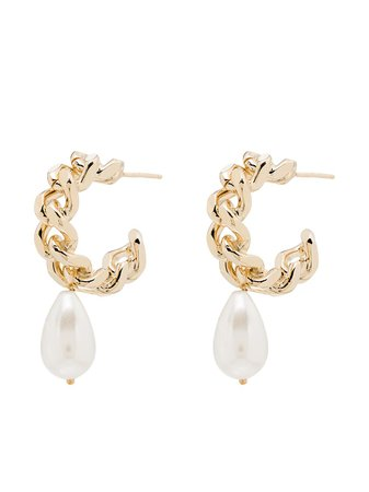 Rosantica Comedy Chain Hoop Earrings - Farfetch