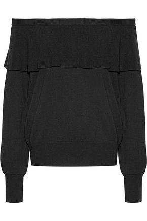 Adinam off-the-shoulder knitted sweater | JOIE | Sale up to 70% off | THE OUTNET