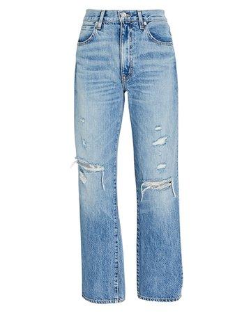 SLVRLAKE Sophie Distressed Straight-Leg Jeans | INTERMIX®