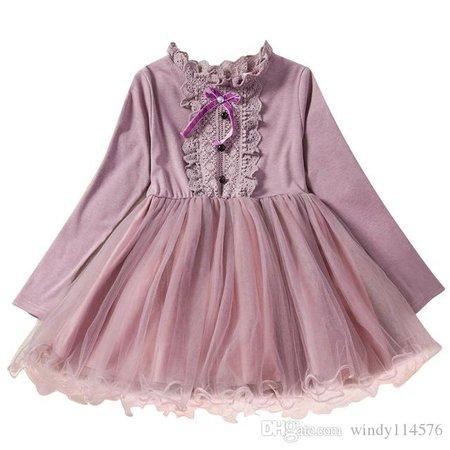 2020 Girls Autumn Dress New Winter Style Brand Kids Dresses For Girls Long Sleeve Casual Wear School Kids Girls Party Tutu Dress 181 From Windy114576, $30.06   DHgate.Com