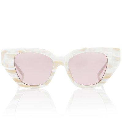 Crystal-Embellished Cat-Eye Sunglasses - Gucci | Mytheresa