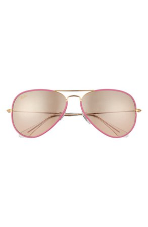 Ray-Ban 58mm Gradient Mirrored Aviator Sunglasses | Nordstrom